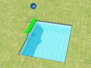 Sims 2 recolor wall in the pool